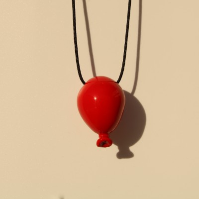 Red Balloon Necklace