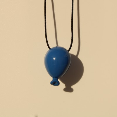 Blue Balloon Necklace