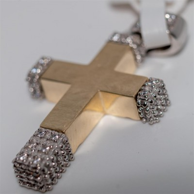 Gold Womans Cross Double Sided