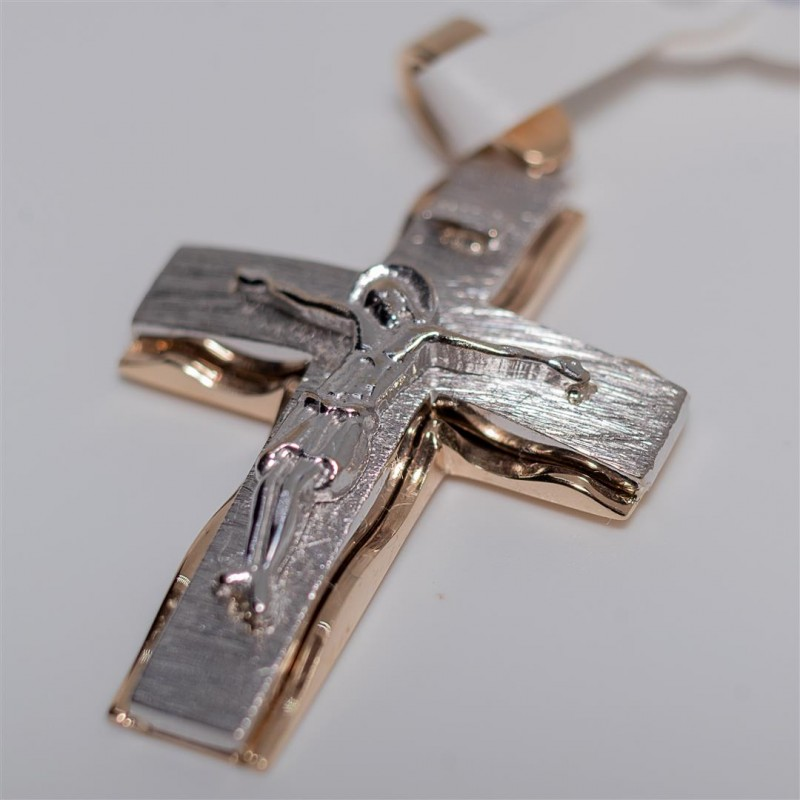 Gold and White Gold Cross