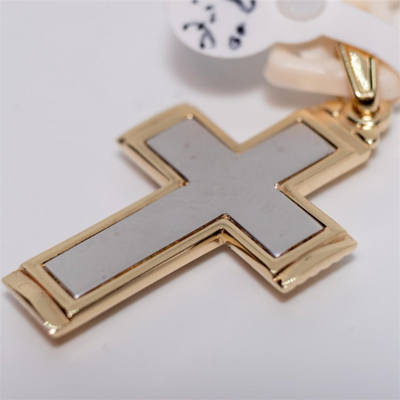Gold  and White Cross Double Sided