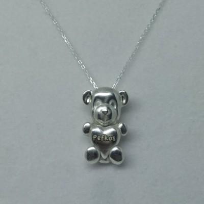 Handmade Silver Teddy Bear