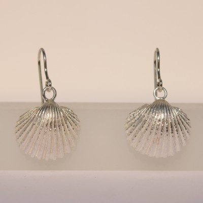 Silver Earrings with Seashells