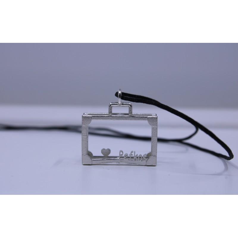 Silver Pefkos Suitcase Pendant