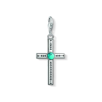 THOMAS SABO Ethnic Cross Turquoise Charm