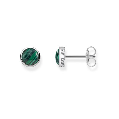 THOMAS SABO Earrings with Green Stone