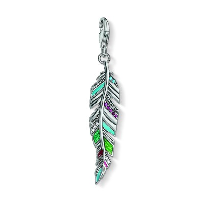 THOMAS SABO Ethnic Feather Charm Pendant