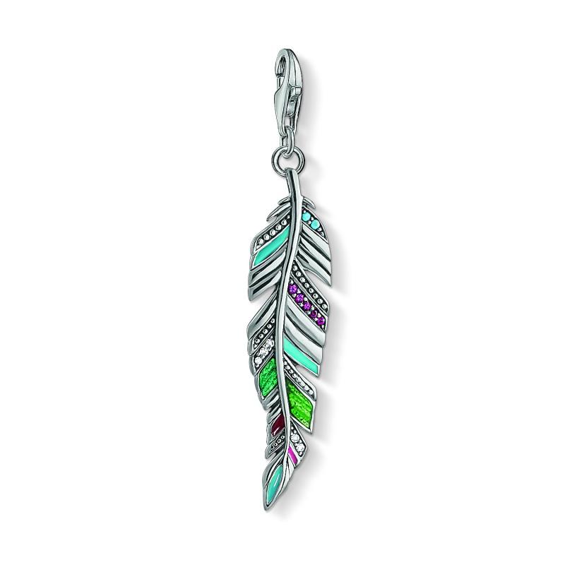 THOMAS SABO Ethnic Feather Charm Pendant