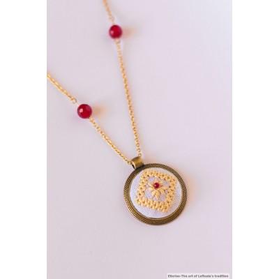 Handmade Stitched Pendant