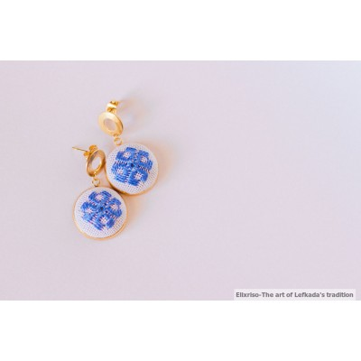 Handmade Stitched Earrings