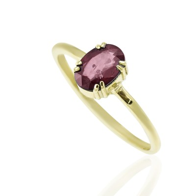Gold Ring with Ruby Stone