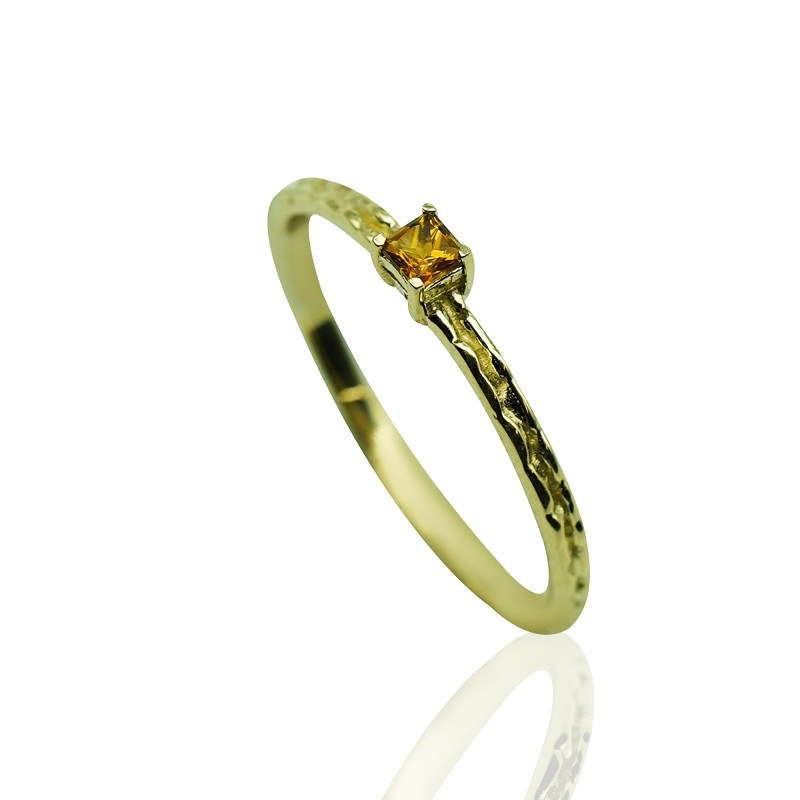 Gold Ring with Citrine Stone