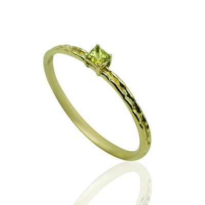 Gold Ring with Peridot Stone