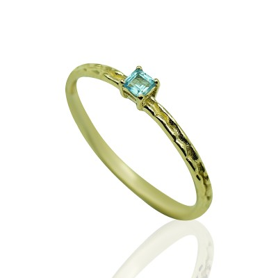 Gold Ring with Topaz Stone