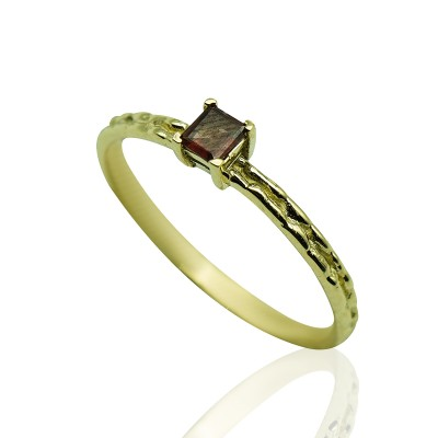 Gold Ring with Turmaline Stone