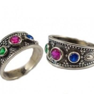 Handmade Byzantine Silver Ring