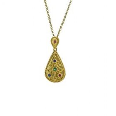 Handmade Byzantine Silver Necklace