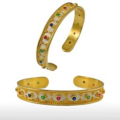 Handmade Byzantine Gold Plated Bracelet